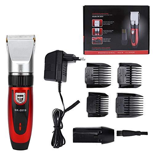 Cortadora de cabello eléctrica, recortadora de cabello recargable de bajo ruido para el hogar, cortadora de cabello de hoja lisa e incisiva para el hogar, niños, hombre, mujer(Enchufe de la UE)