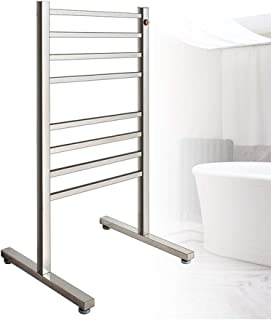 YOGANHJAT Toallero Eléctrico 8 Bars bajo Consumo Warm Seca Toallas 95W Radiador toallero de baño Independientes Apto para Baño Temporizador Diseño Moderno