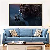 taoyuemaoyi Ölgemälde Movie Poster King Kong Schädel