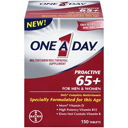 One A Day Proactive 65 Plus Multivitamins, 150 Count - Buy Packs and SAVE (Pack of 2)