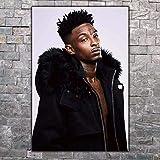 DPFRY Leinwand Malerei Wandkunst Bild 21 Savage Rapper