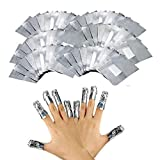 200 Compresse Remover Foil Wraps del Rimuovere smalto gel per Unghie,Fogli di Alluminio per Rimuovere lo Smalto,Nail Art Remover Wraps