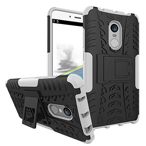 XMT Xiaomi Redmi Note 4,Redmi Note 4X Custodia,2 in 1 Silicone TPU e Hard PC Cover Dual Armatura Bumper Case Telefono Protettiva Custodia per Xiaomi Redmi Note 4,Redmi Note 4X Smartphone (Bianco)