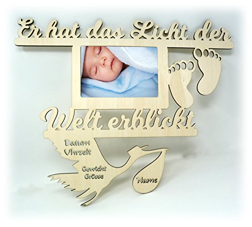 Baby Wand Bilderrahmen mit Namen und Geburtsdaten Geschenke zur Geburt Geschenke für das Babyzimmer erstes Jahr Babygeschenke für Junge