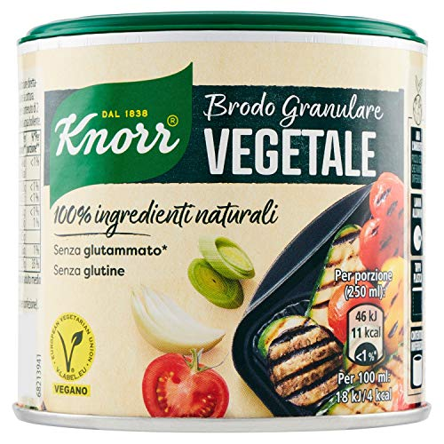 Knorr Brodo Granulare Vegetale 100% Ingredienti Naturali, 135g