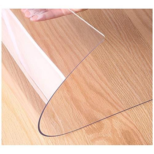 Tapete de escritorio transparente de 2 mm, tapete de escritorio de PVC impermeable, tapete de protección lavable, utilizado para escritorio de oficina en casa, mesa de comedor(Size:40x40cm/16x16in)