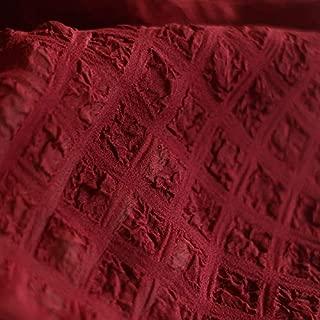High Grade Relief Foam Lattice, Chiffon Soft Elastic Spring Summer Bump Jacquard Fabric Wholesale Cloth Tan Headliner Fabric