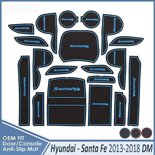 JXSMDNB Auto Gadget Pad Zubehör Gel Pad Rubber Gate.Für Hyundai Santa Fe 2013 2014 2015 2016 2017 2018 DM Maxcruz Grand Santafe ix45