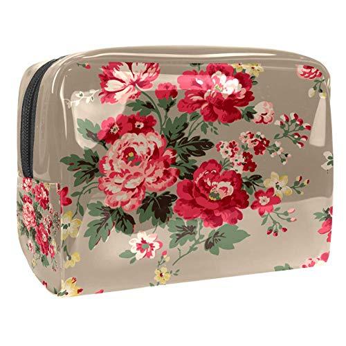 Trousse de toilette multifonction pour femme Motif floral rétro