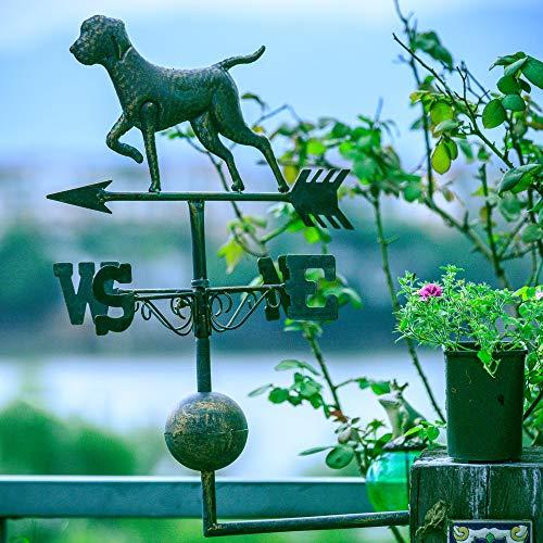 zenggp Alter Schmiedeeisen-Hund Und Katzen-Wetterfahne-Garten-Dekorations-Garten-Dekorations-Windfahne,B