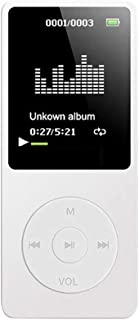 USDWRM Mini MP3 Bluetooth Noise Cancelling 70 Hours Playback MP3 MP4 Lossless Sound Music Player FM Recorder TF Card (Colo...