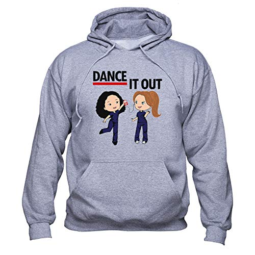 EUGINE DREAM Dance It Out Cristina Yang Meredith Grey Greys Anatomy Tv Series Unisex Kapuzenpullover Grau M