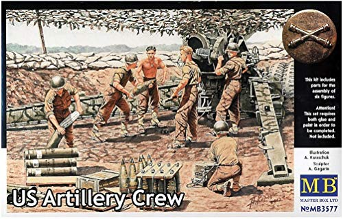 1/35 Army Artillery 6 body - shelling scene WW-II & Vietnam MB3577 (japan import)