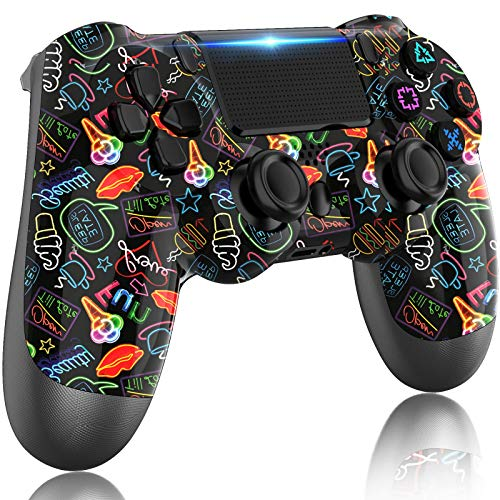 LITTJOY For PS4 Controller, Wireless Controller for PS 4,with Dual Vibration/Stereo Headset Jack/Touch Pad / Six-axis Motion Control,Compatible with PS4/Slim/Pro Console
