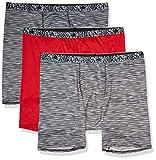 Hanes Men's X-Temp Lightweight Space Dye Boxer Brief, 3 Pack Assorted, Medium