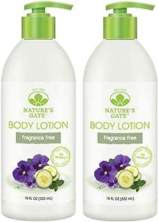 Nature's Gate Moisturizing Body Lotion - Fragrance Free - 18 oz - 2 pk