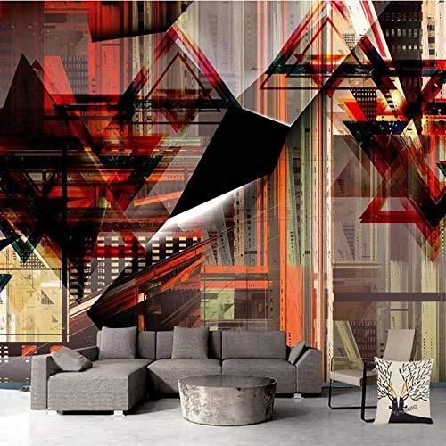 3D vliesbehang, fotovlies, premium fotobehang, uitbreiding van de ruimte, televisiewoonkamer, de geometrische curve 3D groot achtergrondbehang, muurschildering 300*210cm #003