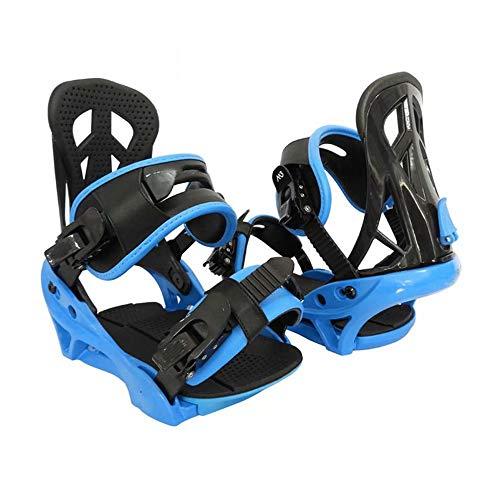 LP-LLL Zapatos de esquí Ajustables para Exteriores - Senderismo Raquetas de Nieve Zapatos de Nieve Patines de esquí para Hombres y Mujeres, Mini Patines de esquí Equipo de esquí (Azul Negro)
