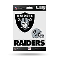 NFL Rico Industries Die Cut 3-Piece Triple Spirit Sticker Sheet, Oakland Raiders