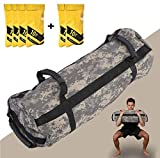 Estleys Workout Sandbag for Fitness 10 to 40 Lbs, Adjustable Military Sandbags with 4 and 2 Inner Bags, Training Weight Bags, Full Body Exercise Equipment with Filler Bag(Camo 2)