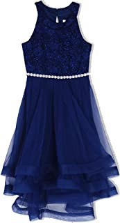 3bbf8f5426 Speechless Girls  7-16 Tween Sparkle Waist Party Dress with Wide Ribbon Hem