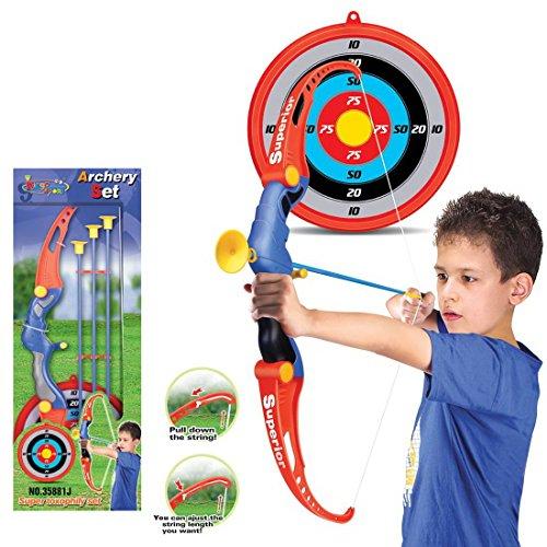 TENGER arco flecha y arco infantil (Recurve–Diana de tiro con arco Equipos de juguete para niños Juego regalo de entrenamiento con flechas y objetivo caras