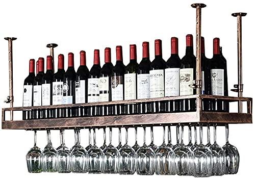 FGDFGDG Morden Style Hierro Colgando Vino Rack Rack Decoración de Techo Estante para Bar, Restaurantes, Cocina o Bodega Barraza,150cm
