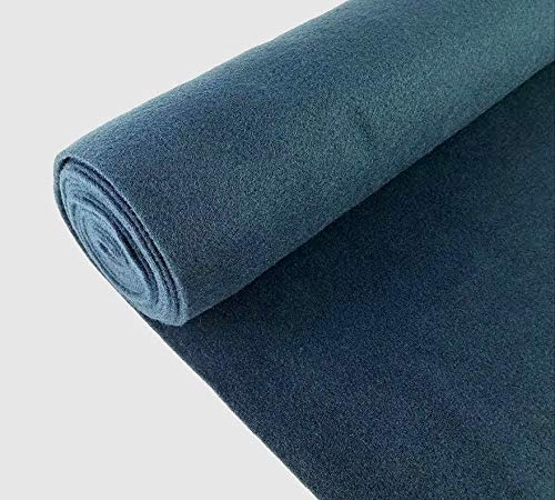 """Automotive Trim Carpet 5 Yards Dark Blue Upholstery Durable Un-Backed 40"""" x15 FT Roll"""