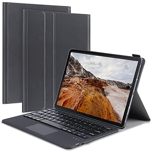 Funda de teclado para Galaxy Tab A 10.1 (2019), funda de teclado inalámbrico desmontable con almohadilla táctil y soporte integrado para lápiz (negro)
