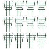 Fittoway Rankhilfe für Kletterpflanzen, Kunststoff, Mini-Pflanzengitter, Garten, DIY, Topfpflanze, Blume, Ranke, grün (12 Stück)