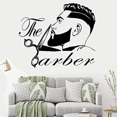 WANLING Wall Sticker The Barber Wall Decal Removable PVC Decoration Barbershop Beauty Salon product image