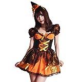 [ブライトララ] ハロウィン コスプレ ウィッチ コスチューム 仮装 衣装 魔女 大人 ハロウィン仮装 kp0013or-L