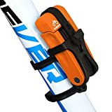 INBIKE Folding Bike Lock Strong Lightweight with Bicycle Mount Bracket Orange