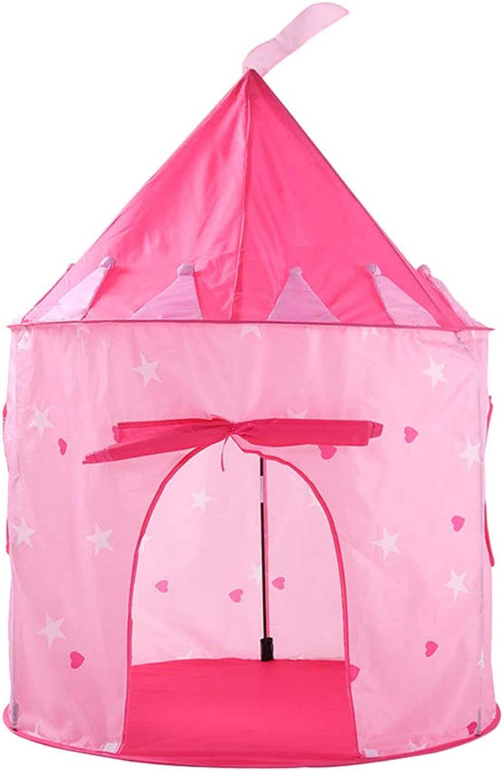 LIOOBO Princess Castle Play Tent with Glow in The Dark Stars, conveniently Folds in to a Carrying Case for Indoor Outdoor Use