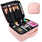MONSTINA Makeup Train Cases Professional Travel Makeup Bag Cosmetic Cases Organizer Portable Storage