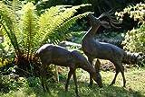 Statues & Sculptures Online - Esculturas decorativas para jardín, diseño de ciervos, color bronce