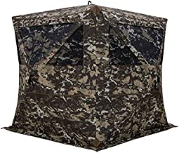 Barronett Blinds BL550CC Blockout 5 Ground Hunting Blind, 4 Person Pop Up Portable, Crater Camo