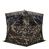 Barronett BL550CC Blockout 5 Ground Hunting Blind, 4 Person Pop Up Portable, Crater Camo