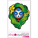 pinkelephant Aufkleber / Autoaufkleber - Skullita - Sugar Skull - Frau - Fahne - Brasilien - 9,5 cm x 12 cm flag