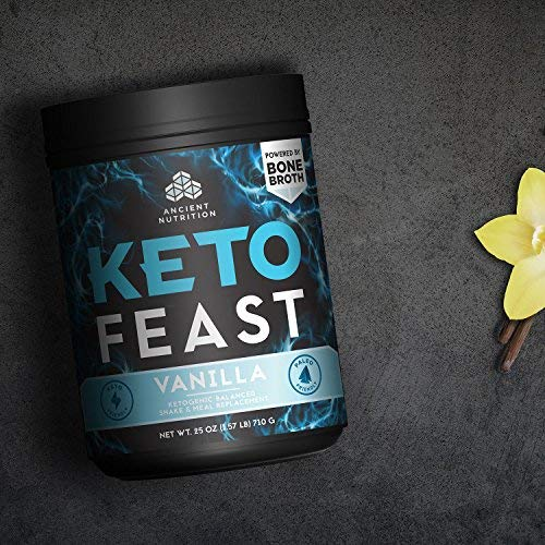 Ancient Nutrition KetoFEAST Powder, Vanilla, 15 Servings - Keto Diet Meal Replacement with Ketogenic Superfoods for Ketosis and Energy 3