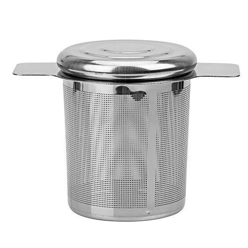 2 asas tapa filtros de te y cafe Infusores de te cesta reutilizable fina malla colador de te de acero inoxidable