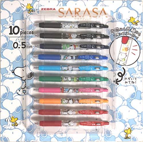 ZEBRA SARASA Clip - Bolígrafo de tinta de gel de 0,5 mm, juego de 10 bolígrafos de 8 colores, JJ29-SN4-CO-10A
