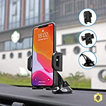 Saza Tech S004 Universal Car Dashboard & Windshield Suction Cup Mount Holder –Non Slip Design 360 Degree Rotating Car Phone Holder - Universal Car Cell Phone Holder, For Samsung, iphone, LG, Nokia, Hu
