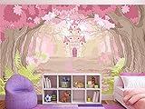Oedim Fotomural Vinilo para Pared Infantil Castillo de Princesas | Fotomural para Paredes | Mural | Vinilo Decorativo | 200 x 150 cm | Decoración comedores, Salones, Habitaciones