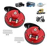 Yungeln Bocinas para camiones 300DB Bocina de caracol eléctrica de aire ruidoso, kit de bocinas impermeables de 12 V, súper ruidosas para camiones, automóviles, 2 piezas