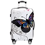 Monzana Reisekoffer Hartschalenkoffer Trolley Koffer | ABS | PC beschichtet | Teleskopgriff | gummierte Zwillingsrollen | Größe L