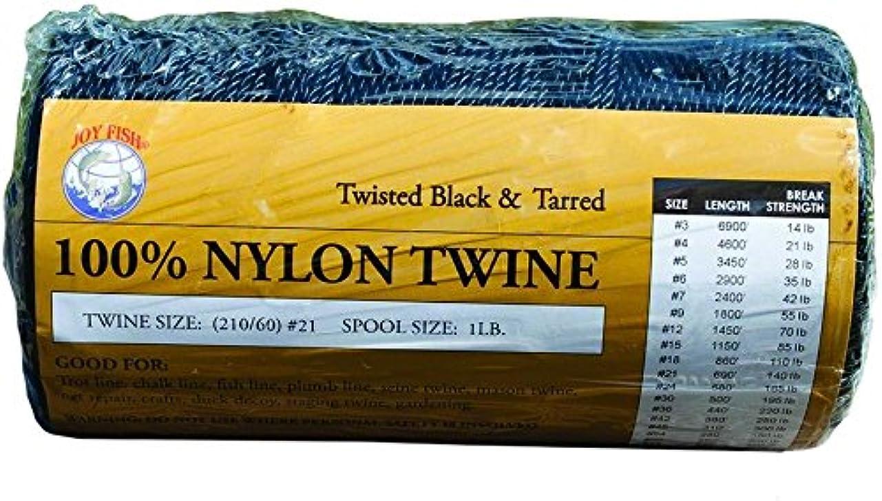 理論楽な主張するJoy魚tntb-12ブラック& TarredツイストナイロンTwine 1lbスプールSZ 12