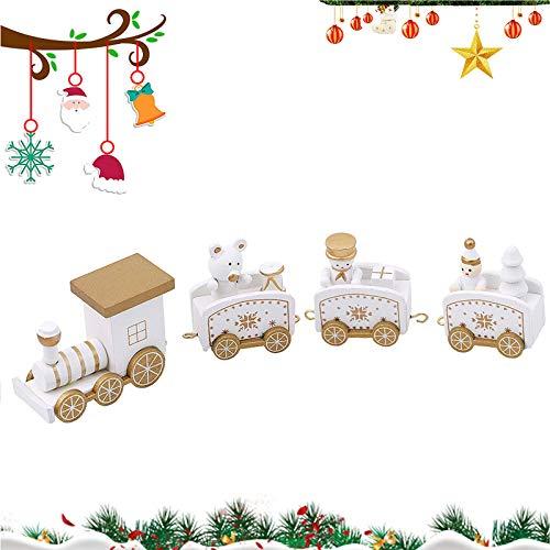 WELLXUNK Tren De Navidad,4 Piezas Tren De Navidad para Arbol, El Juguete...
