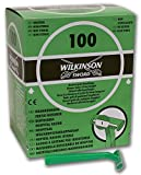 Ospedale Wilkinson–Rasoi usa e getta con funzione RETRACTIL, Scatola dispenser, colore: verde