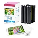 Fimax - Papel fotográfico y cartucho de repuesto para Canon Selphy CP1300 CP1200 CP910, 7737A001 / KP-108IP, 3 cartucho de tinta de color y 108 hojas de papel de impresora (100 x 148 mm)